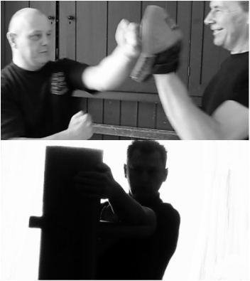 Wing Chun straight line punching training in the picture